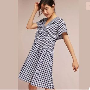 Anthropologie 11.1 THYLO Blue & White Swing Dress